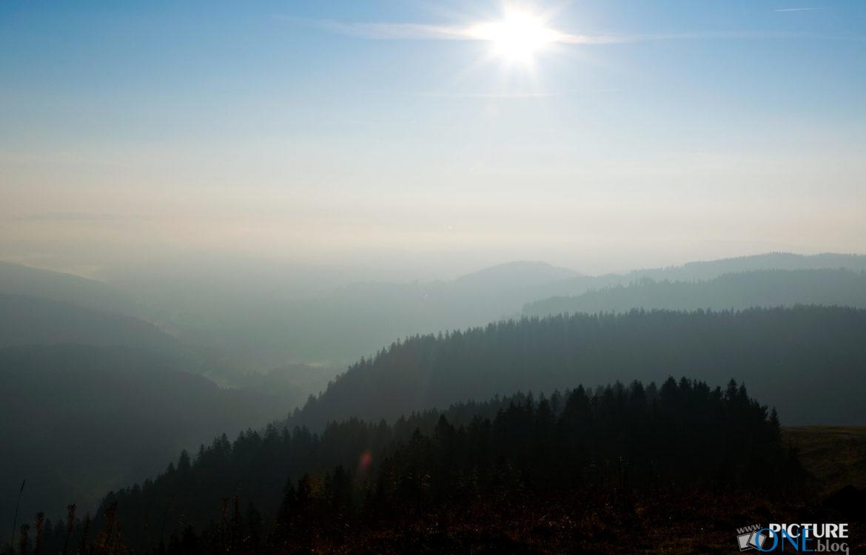 Morgensonne auf dem Feldberg