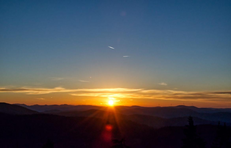 Sonnenaufgang auf dem Hochblauen